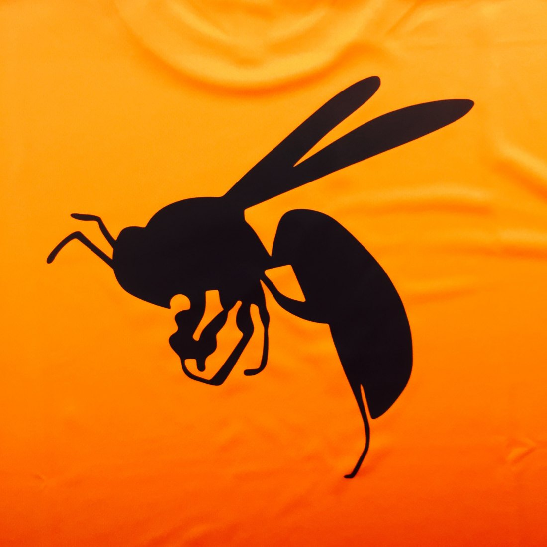 蜂がプリントされたドライtシャツ|一番プリント
